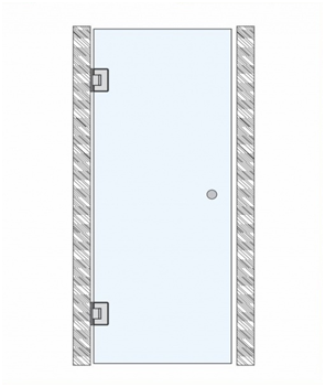 Дверь одиночная маятниковая