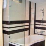 Перегородка в ванную 500 х 1400