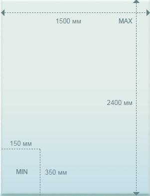 Размеры стекла - 4 мм