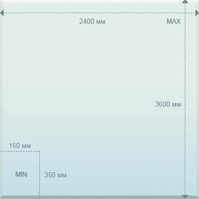 Размеры стекла- 5-19 мм