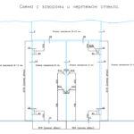Схема с зазорами и чертежом стекла