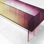 Столик из цветного стекла