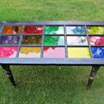 Цветное стекло мебель