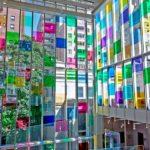 Цветное стекло в остеклении фасадов 1