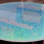 Узорчатое стекло столешница