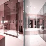 Зонирование пространства стеклянными перегородками