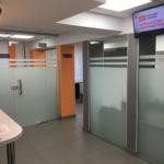 Разделение офиса закаленным стеклом